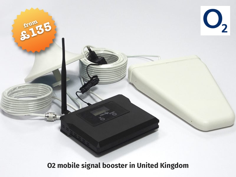 O2 mobile signal booster in United Kingdom